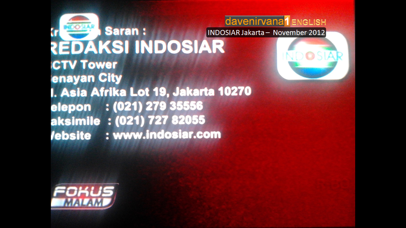 Indosiar: New Appearance, News INDOSIAR Moved To SCTV Tower